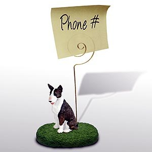 Bull Terrier Note Holder (Brindle)