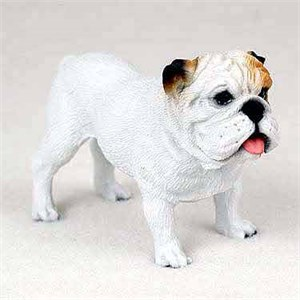 Bulldog Figurine White