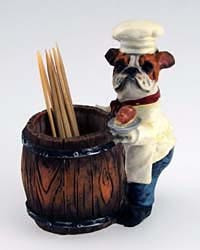 Bulldog Toothpick Holder