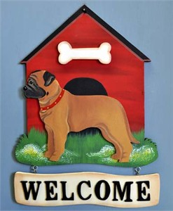 Bullmastiff Welcome Sign
