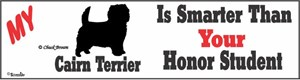 Cairn Terrier Bumper Sticker Honor Student