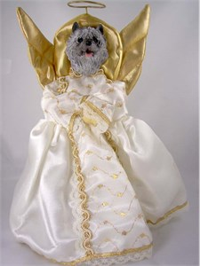 Cairn Terrier Angel Christmas Tree Topper