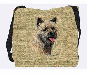 Cairn Terrier Tote Bag (Brown)