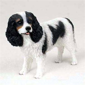Cavalier King Charles Figurine Black-White