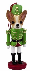 Chihuahua Ornament Nutcracker (Tan)