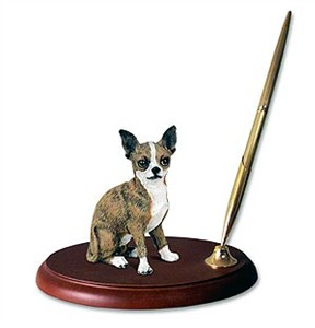 Chihuahua Pen Holder (Brindle & White)