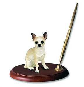 Chihuahua Pen Holder (Tan & White)