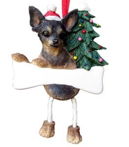 Chihuahua Ornament (Black and Tan)
