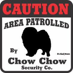 Chow Chow Bumper Sticker Caution