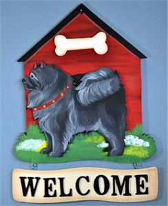 Chow Chow Welcome Sign Black