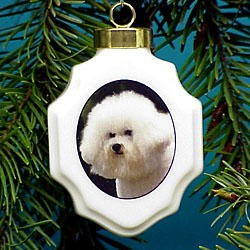 Bichon Frise Ornaments Porcelin