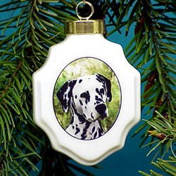 Dalmatian Ornament Porcelin