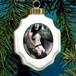 Gray Horse Chrtistmas Ornament