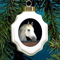 White Horse Ornament