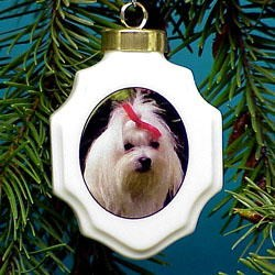 Maltese Ornament