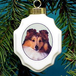 Shetland Sheepdog Christmas Ornament