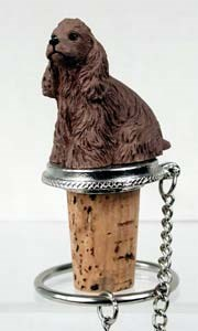 Cocker Spaniel Bottle Stopper (Brown)