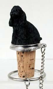 Cocker Spaniel Bottle Stopper (Black)