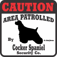Cocker Spaniel Bumper Sticker Caution
