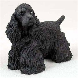 Cocker Spaniel Figurine Black