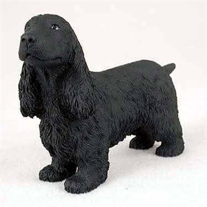 English Cocker Spaniel Figurine Black
