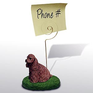 Cocker Spaniel Note Holder (Brown)