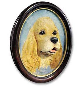 Cocker Spaniel Sculptured Portrait