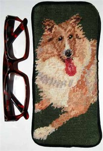 Collie Eyeglass Case