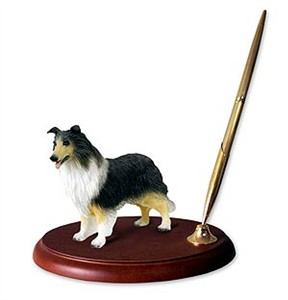 Collie Pen Holder (Tricolor)