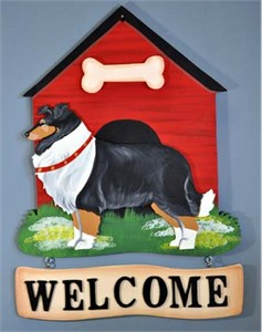 Collie Welcome Sign Tri