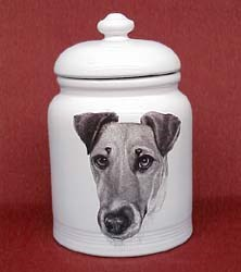 Wire Fox Terrier Cookie Jar