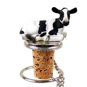 Cow Bottle Stopper (Holstein)