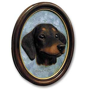 Dachshund Sculptured Portrait Black