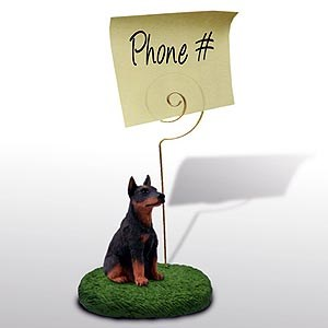 Doberman Pinscher Note Holder (Red)