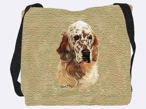 English Setter Tote Bag (Brown)