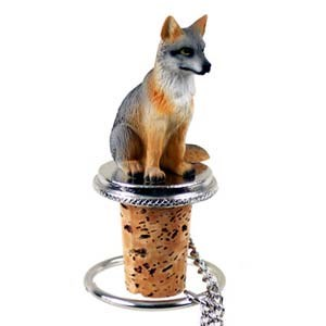 Fox Bottle Stopper (Gray)