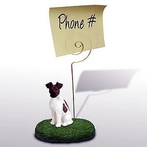Fox Terrier Note Holder (Brown & White)