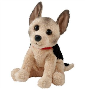 German Shepherd Plush Stuffed Animal 10 Inch