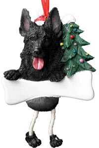 German Shepherd Ornament (Black)
