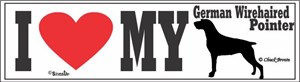 German Wirehaired Pointer Bumper Sticker I Love My