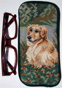 Golden Retriever Eyeglass Case