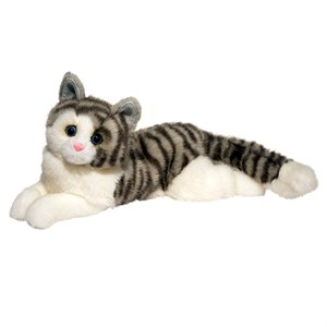 Gray Cat Plush Stuffed Animal 16 Inch