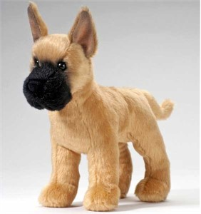 Great Dane Plush Stuffed Animal 8 Inch
