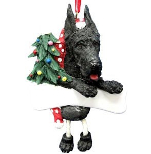 Great Dane Ornament (Black)