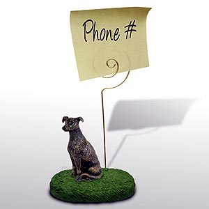 Greyhound Note Holder (Brindle)