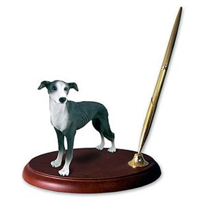 Greyhound Pen Holder (Gray)