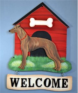 Greyhound Welcome Sign Brindle