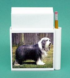 Bearded Collie Hold-a-Note
