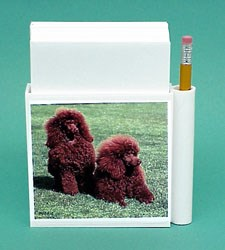 Chocolate Poodle Hold-a-Note
