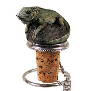 Iguana Bottle Stopper
